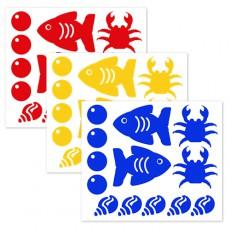모양시트지(바다B)3p -1세트